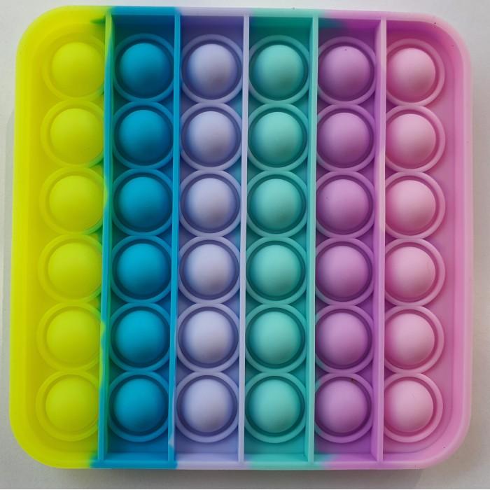 """Pop it antistresinis žaislas """"Daugiaspalvis kvadratas"""""""