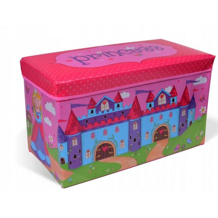 """Žaislų dėžė - pufas """"Princesės pilis"""""""