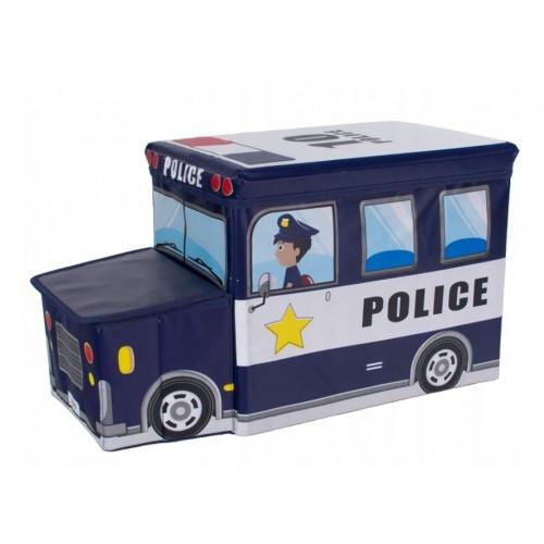 """Žaislų dėžė - pufas """"Policija"""""""