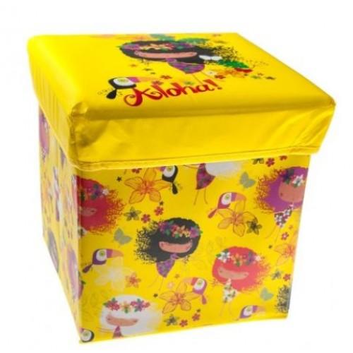 """Žaislų dėžė - pufas """"Aloha"""""""