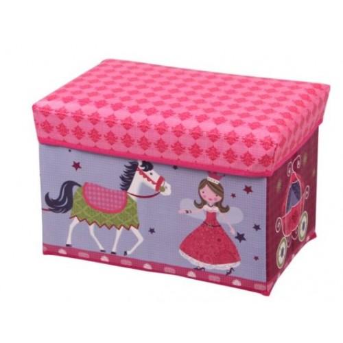 """Žaislų dėžė - pufas """"Princesės"""""""
