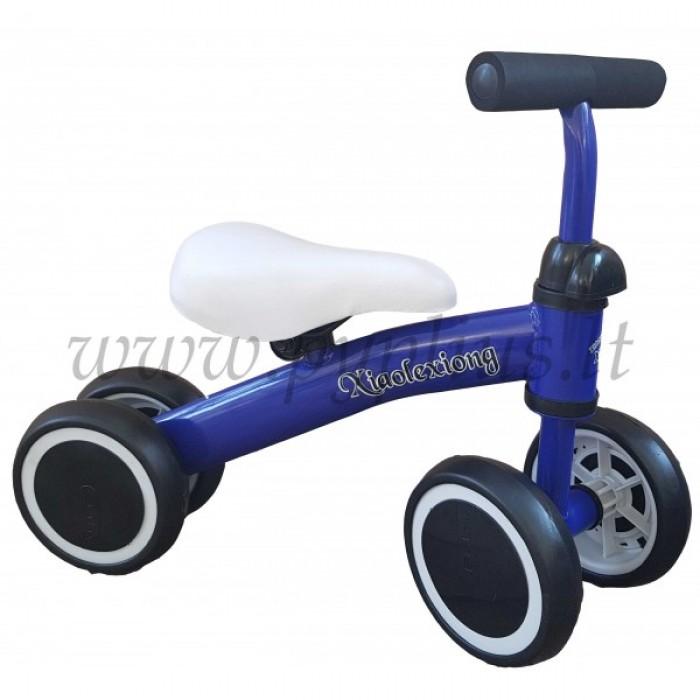 Pirmasis dviratukas-paspirtukas Mėlynas