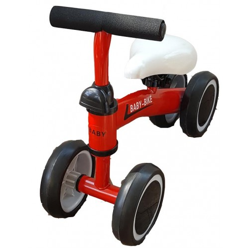 Pirmasis dviratukas-paspirtukas Raudonas