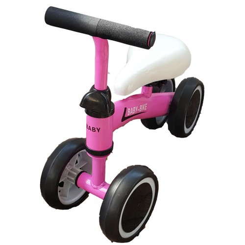 Pirmasis dviratukas-paspirtukas Rožinis
